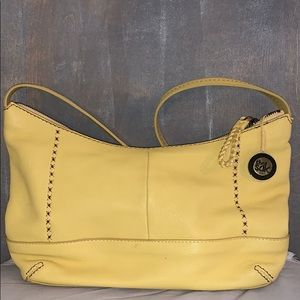 Yellow leather hobo bag from The Sak.